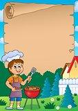 Barbeque theme parchment 1