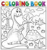 Coloring book dinosaur topic 8
