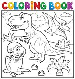 Coloring book dinosaur topic 9