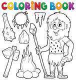 Coloring book prehistoric thematics 1