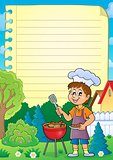 Lined paper with barbeque theme 1