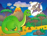 Night landscape with dinosaur theme 6