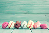 Line of macarons