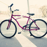 Vintage purple bicycle