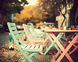 Pink and turquoise Cafe