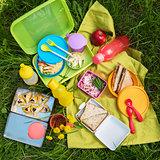 picnic food at outdoor