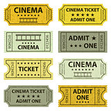 Retro cinema tickets.