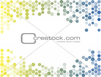 Abstract Hexagon Background. Light Vector Pattern