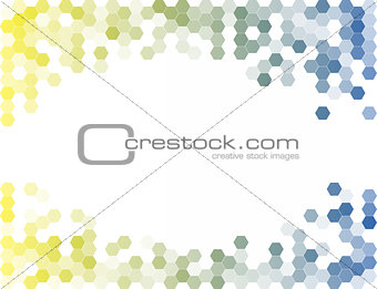 Abstract Hexagon Background. Light Vector Pattern