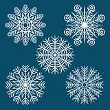 graphic winter set of snowflakes