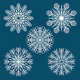 graphic winter set of snowflakes
