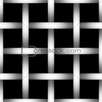 Tone depth wire net  silhouette on black background