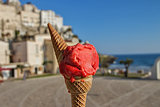 Italian Strawberry ice cream