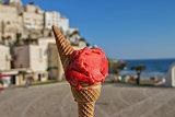 Italian Strawberry ice cream