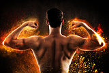 Burning muscular back