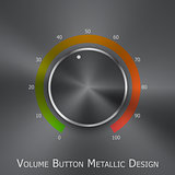 Volume button (music knob) with metal texture