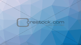 Abstract blue gradient lowploly of many triangles background for use in design