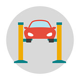 Car lifting flat icon