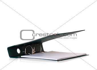 Green business file folder