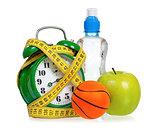 Sport concept and alarm clock