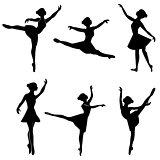silhouette ballerina vector