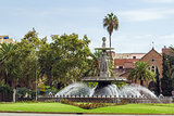 Fountain in Malaga, Spain