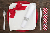 Contemporary Christmas Table Setting