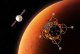 Spacecrafts Orbiting Red Planet