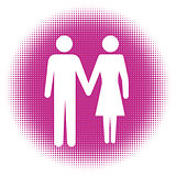 Man and Woman icon art.