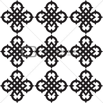 Celtic knots pattern