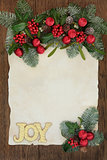 Christmas Joy Decorative Border