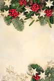 Christmas Background Abstract Border