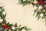 Abstract Christmas Border
