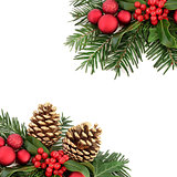 Christmas Flora and Bauble Border