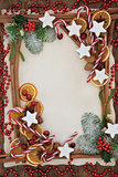 Christmas Abstract Food Border
