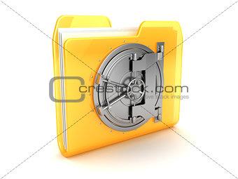 folder with vault door