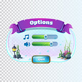 Atlantis ruins - volume options window