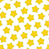 Seamless Pattern with Starfruit
