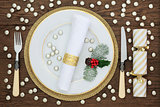 Christmas Decorative Table Setting