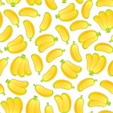 Seamless Background with Bananas
