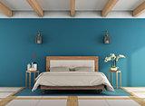 Blue classic bedroom
