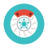 Brake Disc flat icon