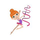 Young Rhythmic Gymnaste