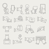 Hands With Different Objects Icon Set