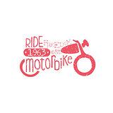 Ride Motorbike Red Vintage Emblem
