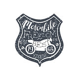 Motorbike Freedom Vintage Emblem