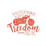Best Motorbike Orange Vintage Emblem