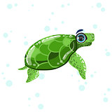 Green Turtle Drawing