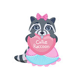 Girl Raccoon With Heart