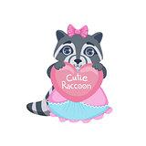Girl Raccoon With Heart